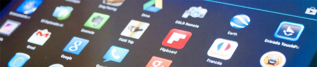 Iconos de apps en un tablet, por jgoge123, en Flickr (8656350319), con licencia CC by